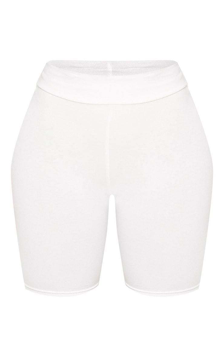 Shape Cream Cotton High Waist Bike Short 3