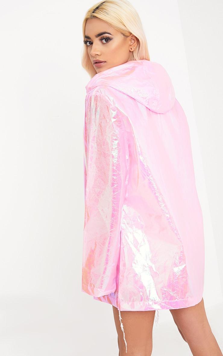 Cobie Pink Holographic Rain Mac 2