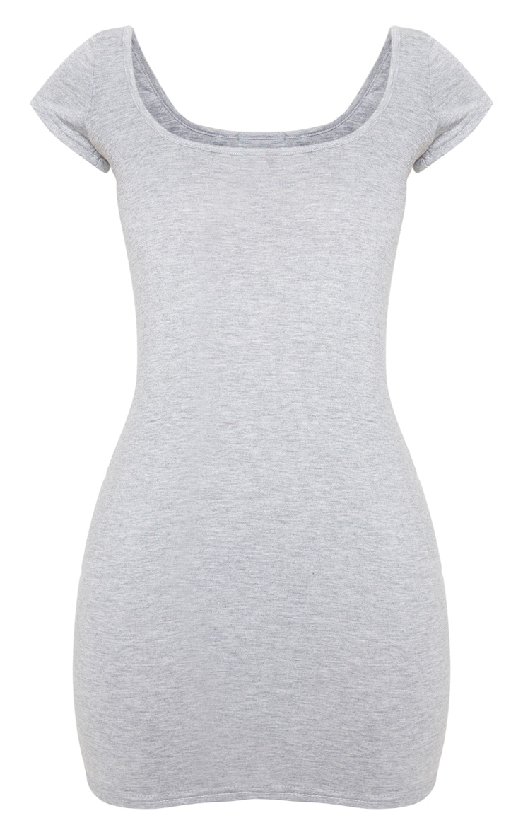 Petite Grey Marl Cap Sleeve Mini Dress 3