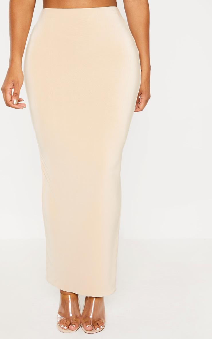Shape Stone Slinky Longline Midaxi Skirt  2