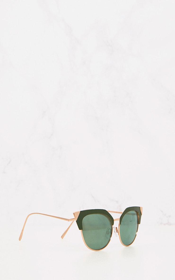 Green Retro Cat Eye Sunglasses 3
