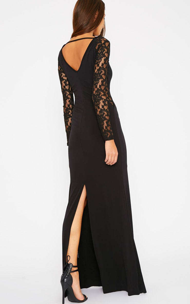 Debbie Black Lace Insert Maxi Dress 3