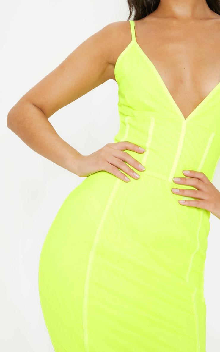 Neon LimeBinding Midi Dress 5
