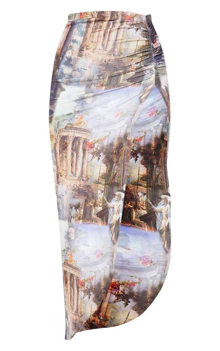 Multi Renaissance Ruched Side Split Midaxi Skirt 3