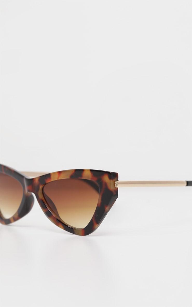 Brown Tortoiseshell Cat Eye Sunglasses 3