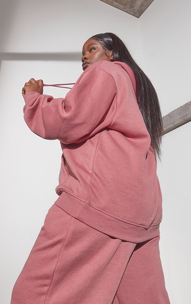 RENEW Plus Washed Red Oversized Hoodie 2