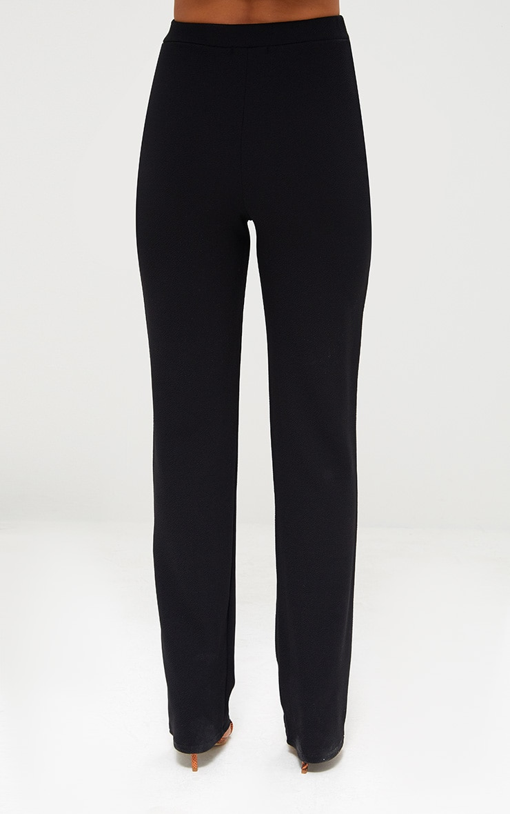 Black Straight Leg Suit Pants 3
