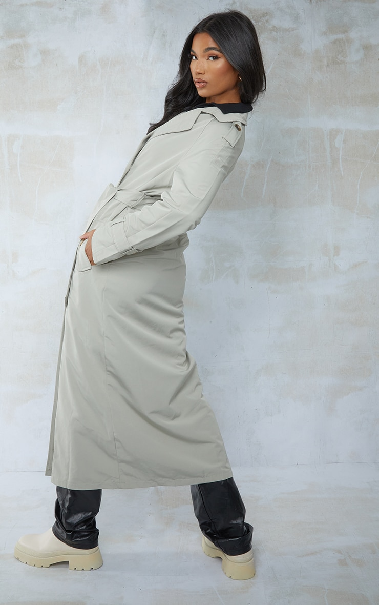 Sage Green Trench Coat 4