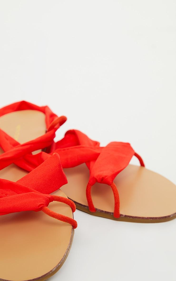 Orange Ghillie Lace Up Sandal 3