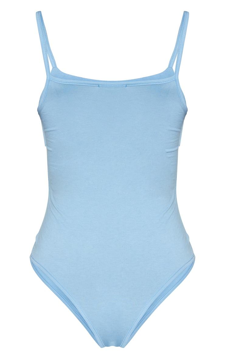 Body jersey bleu ciel à bretelles 6