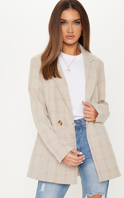 4a6ec5c306 Stone Checked Blazer