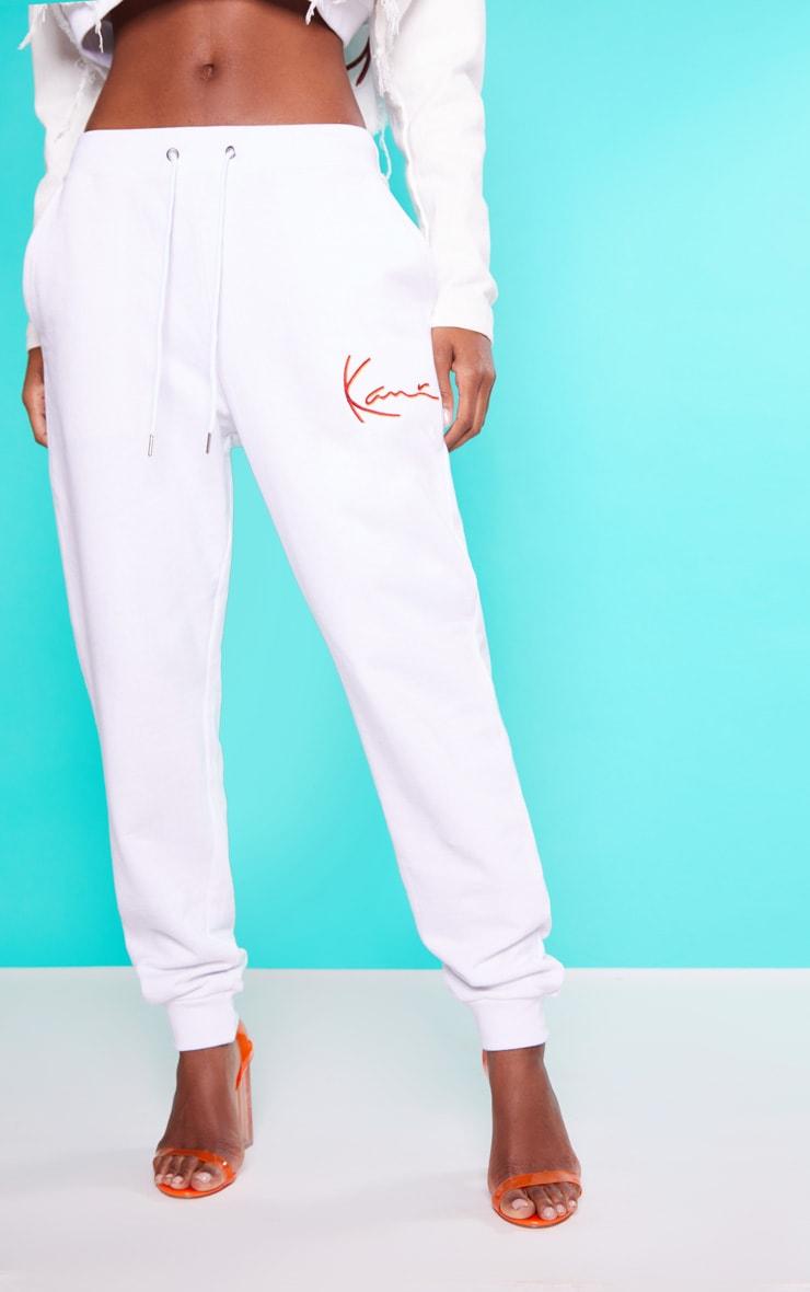 karl kani pantalon de jogging blanc prettylittlething fr. Black Bedroom Furniture Sets. Home Design Ideas