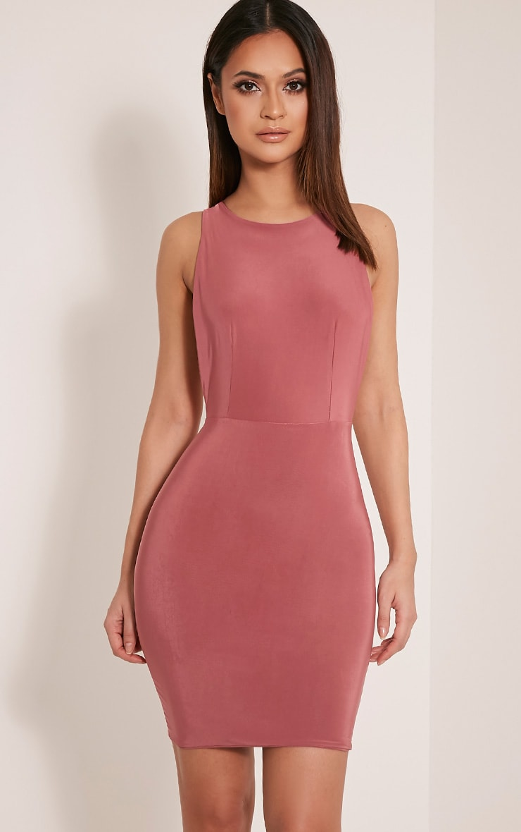 Dacey Rose Double Cross Back Bodycon Dress 4