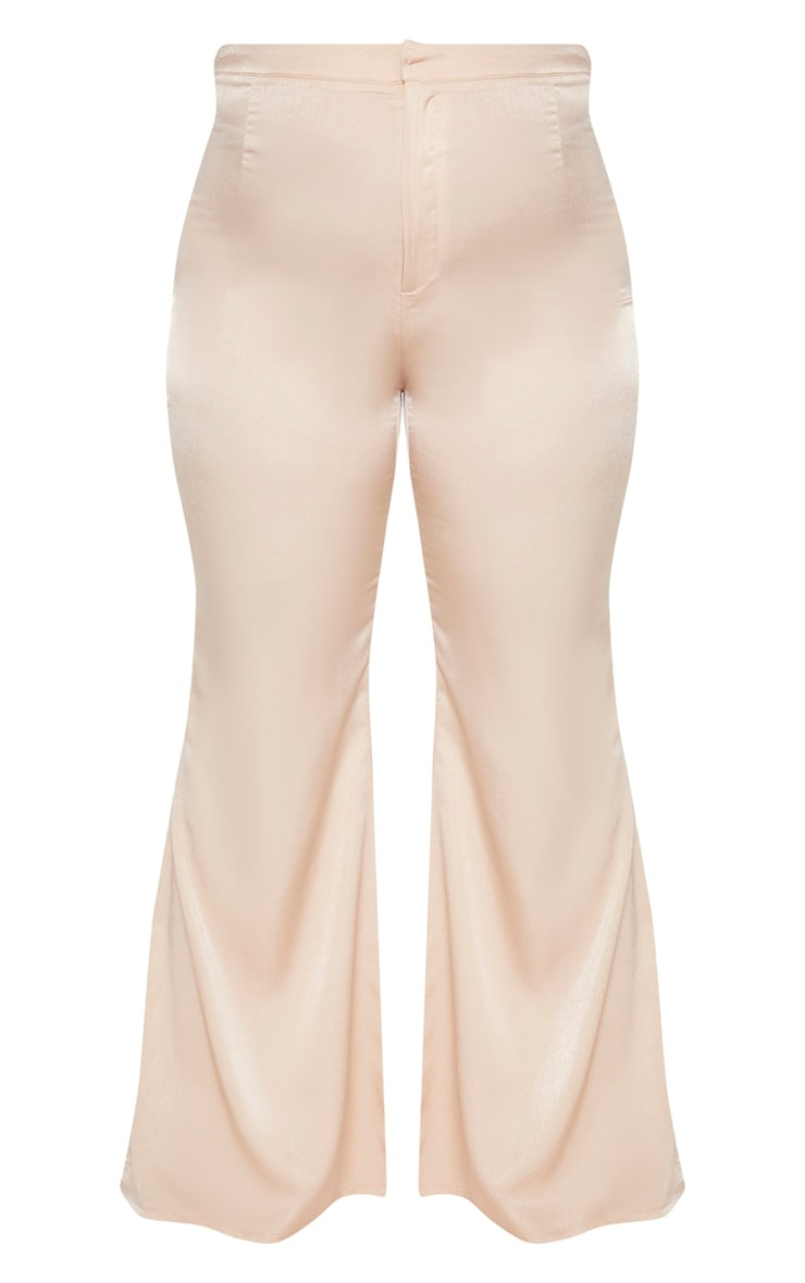 Plus Champagne Tailored Extreme Flared Pants  3