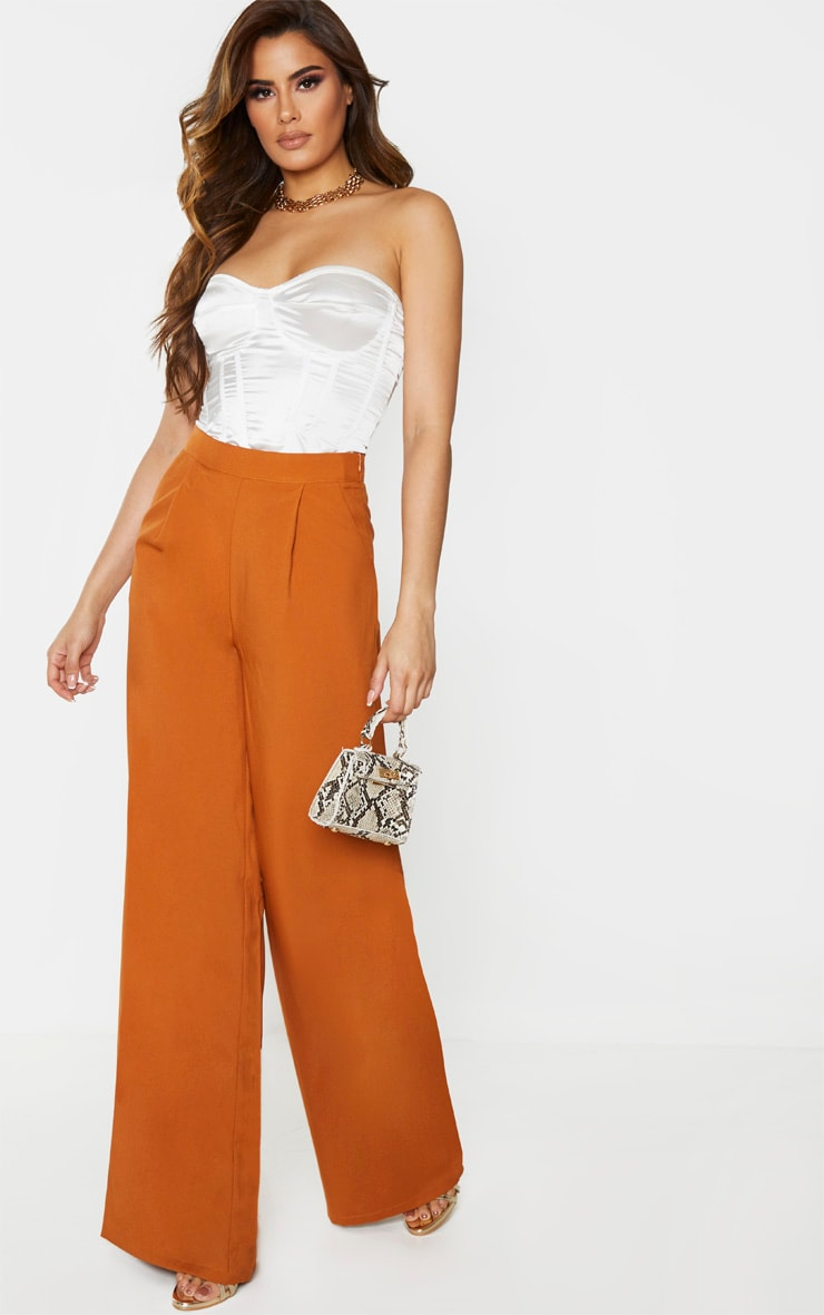 Tall Rust Extreme Wide Leg Trouser 1