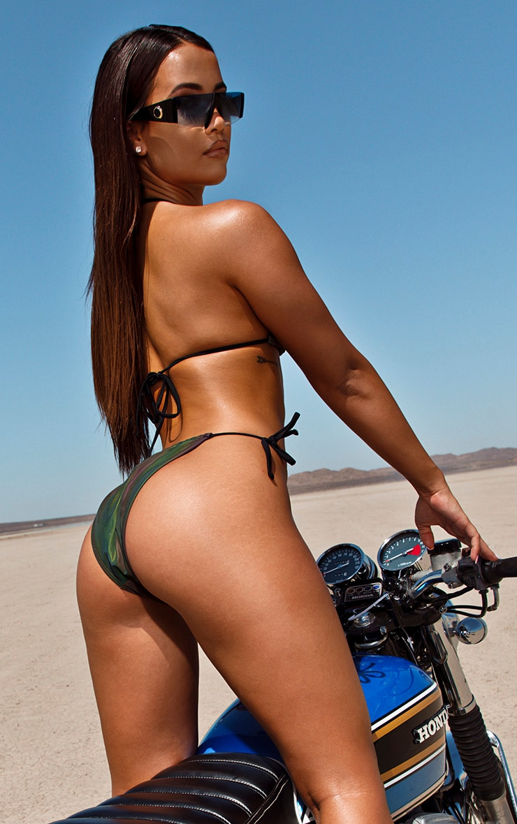 Petrol Reflective Triangle Bikini Top 2