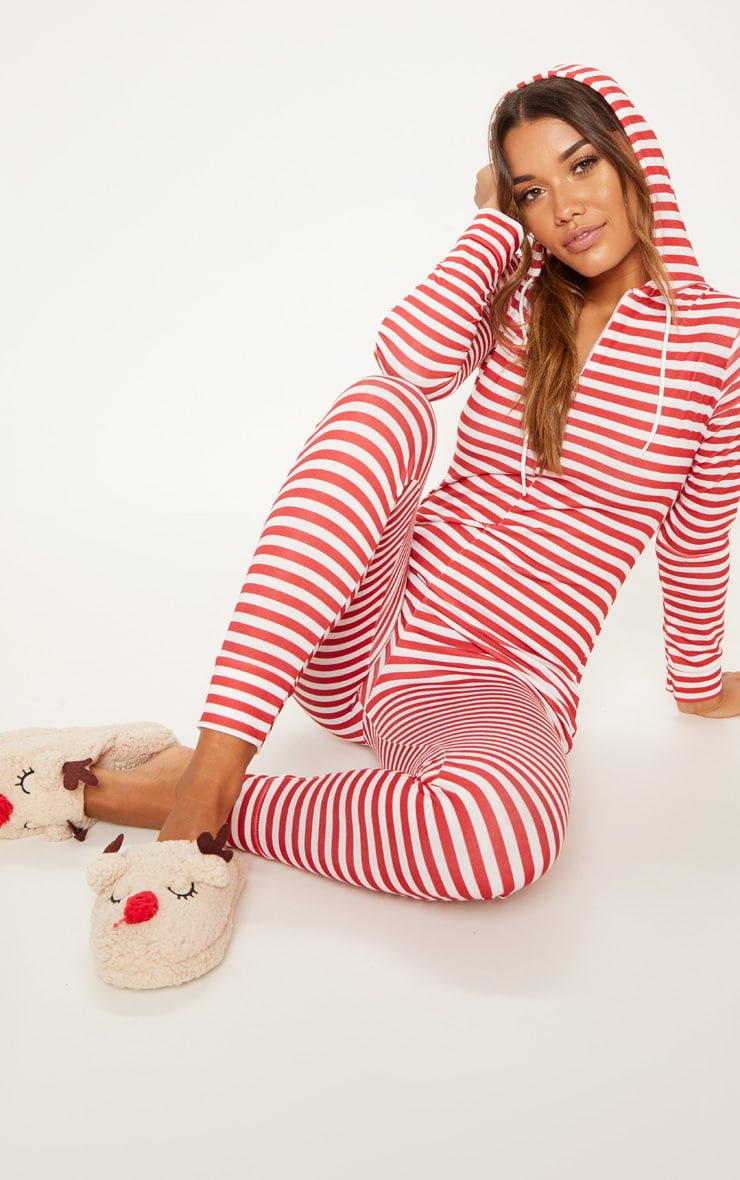 Red & White Stripe Onesie