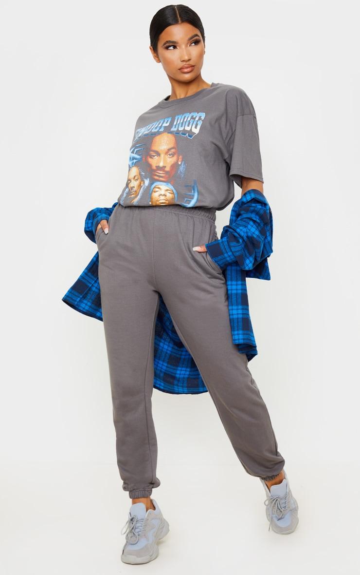 T-shirt oversize gris à imprimé Snoop Dogg 4