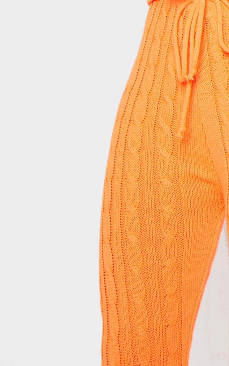 Bright Orange Cable Knit Jumper & Legging Set  6