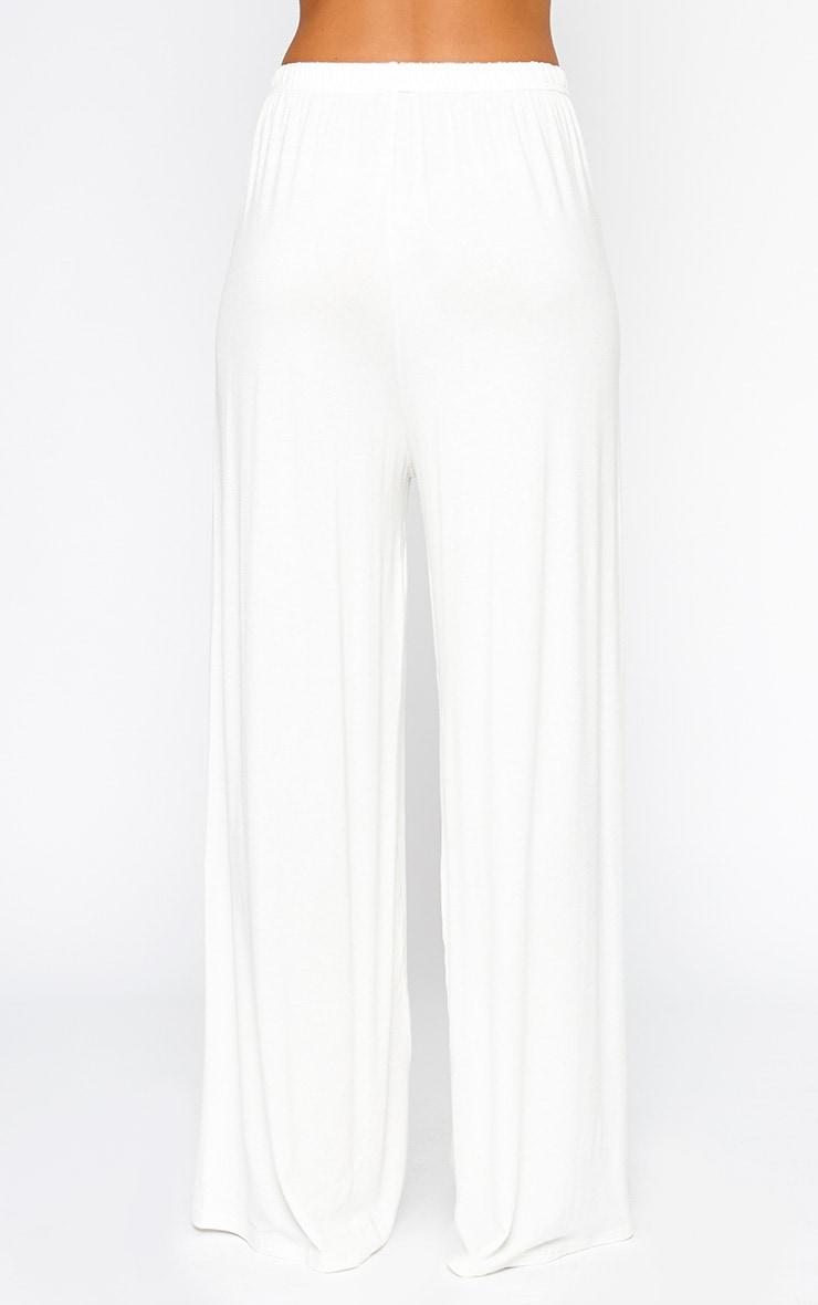 Nikita Cream Jersey Palazzo Trousers 5