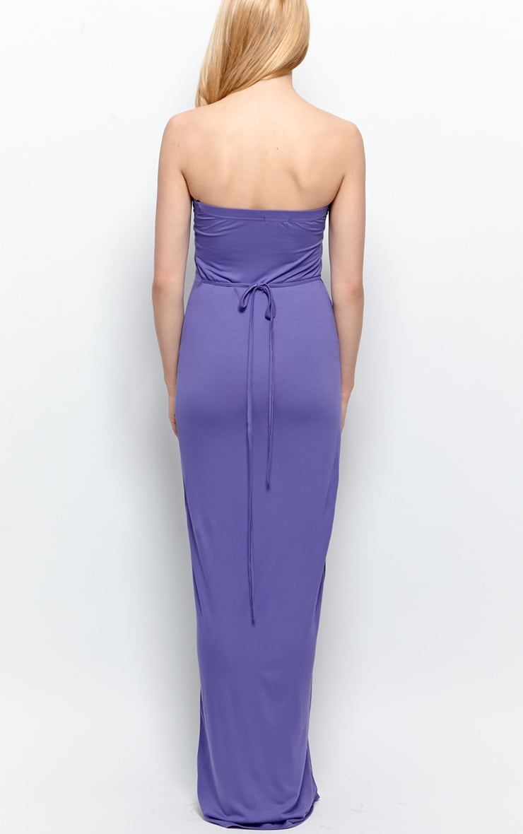 Albany Purple Bandeau Maxi Dress  2