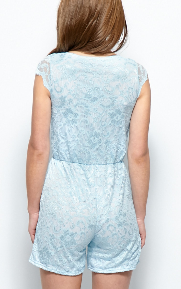 Leila Blue Lace Playsuit 2