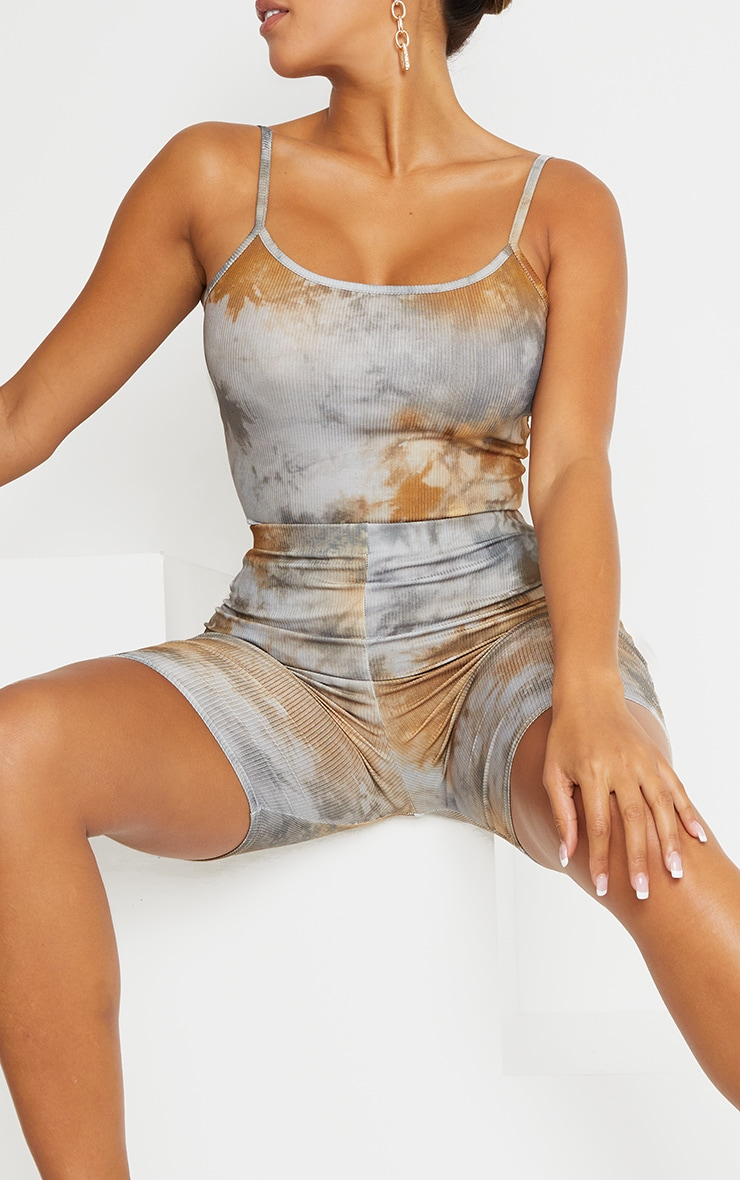 Shape Tan Tie Dye Rib Bike Shorts 5