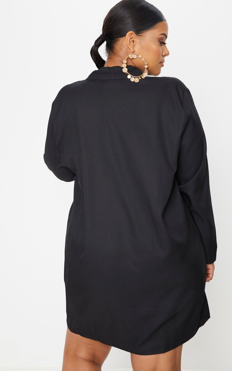 Plus Black Oversized Blazer Dress 2