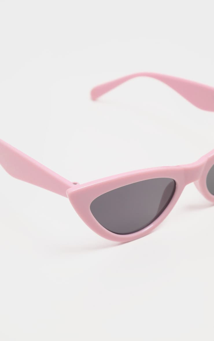 Pale Pink Retro Cat Eye Sunglasses 3