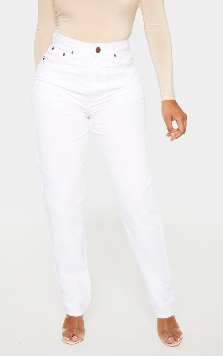 Shape White Mom Jeans 2
