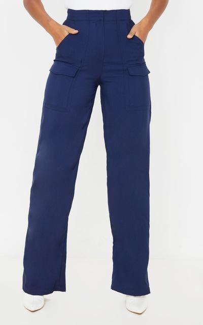 Navy Straight Leg Pocket Trouser