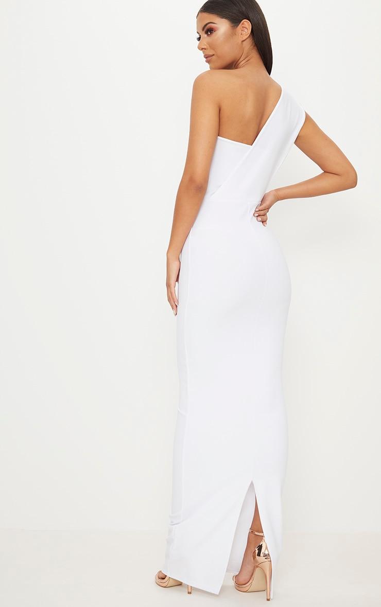 White One Shoulder Maxi Dress 2