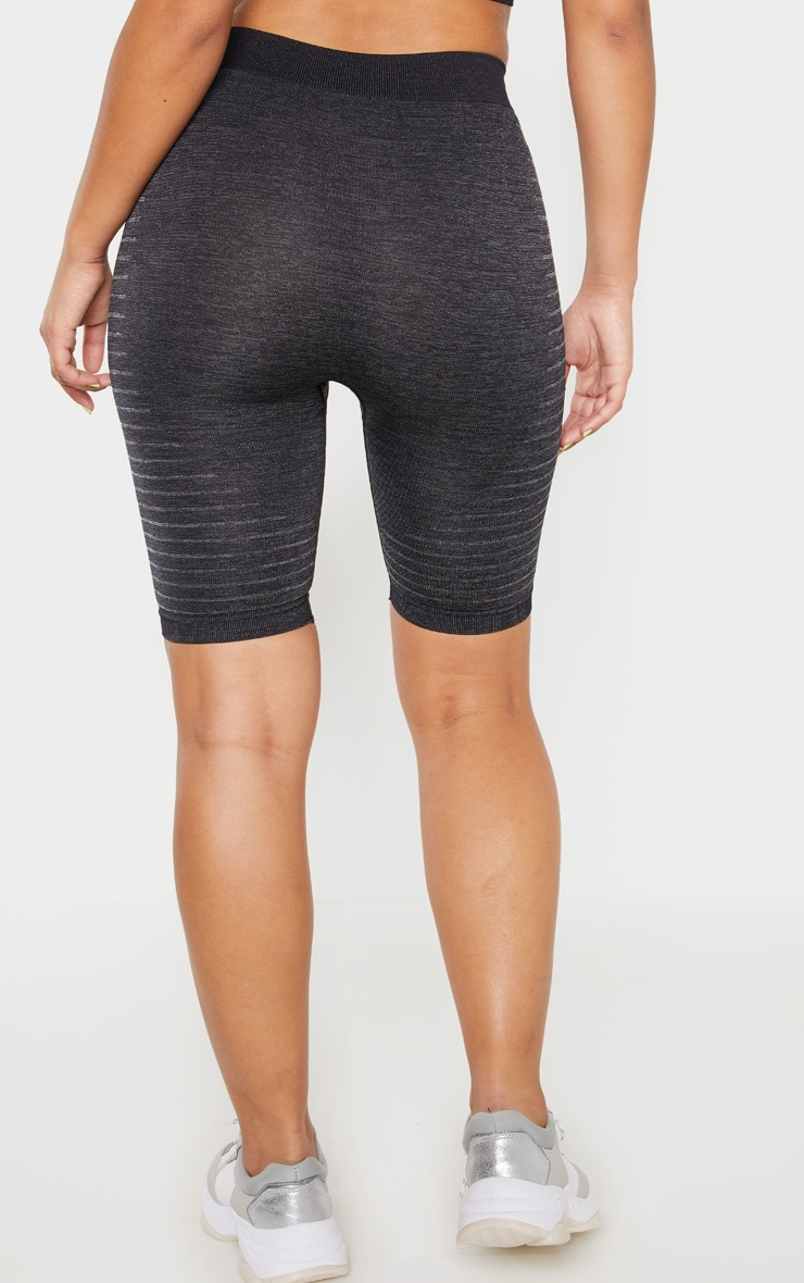 Dark Grey Seamless Stripe Detail Short 4