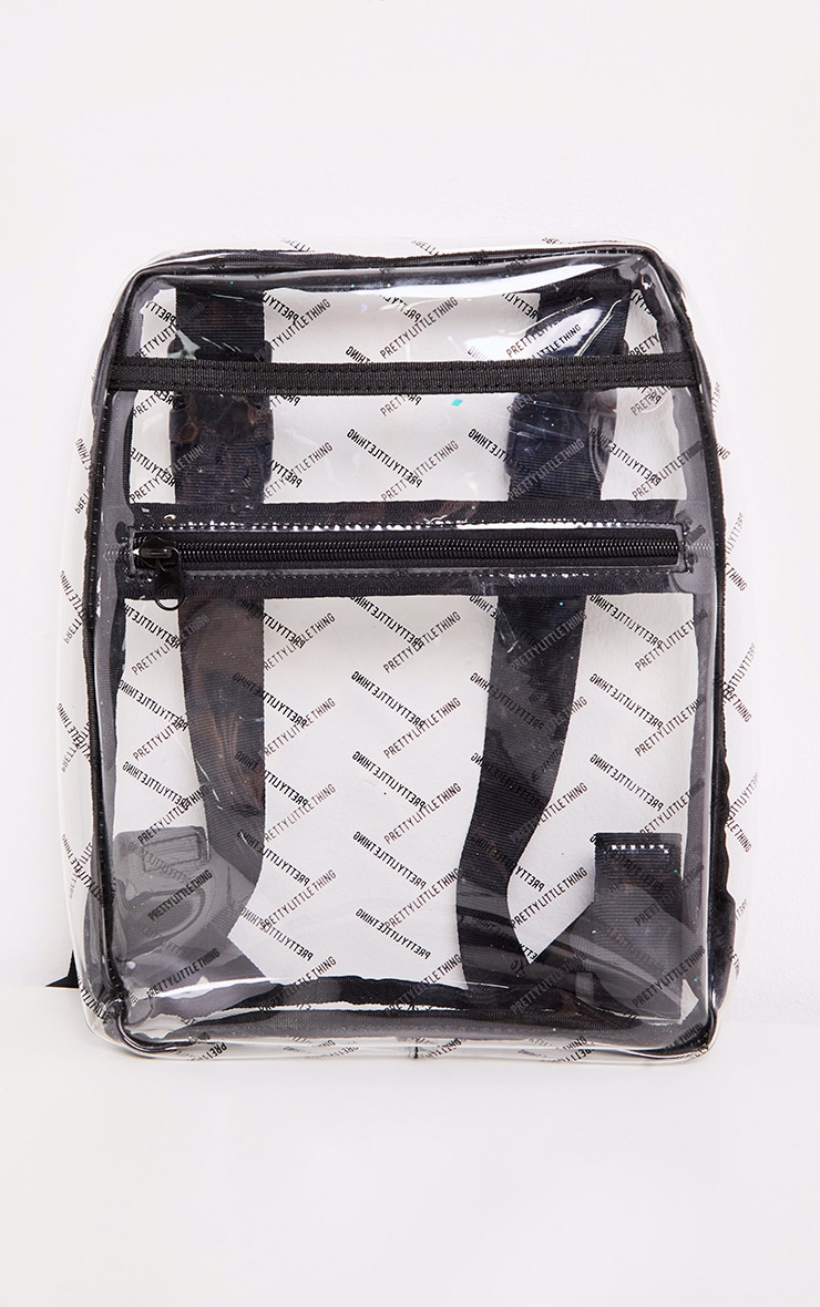 PRETTYLITTLETHING Log Clear Plastic Front Bag 2