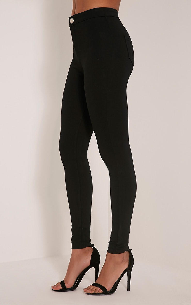 Serinna jeggings noirs taille haute 4