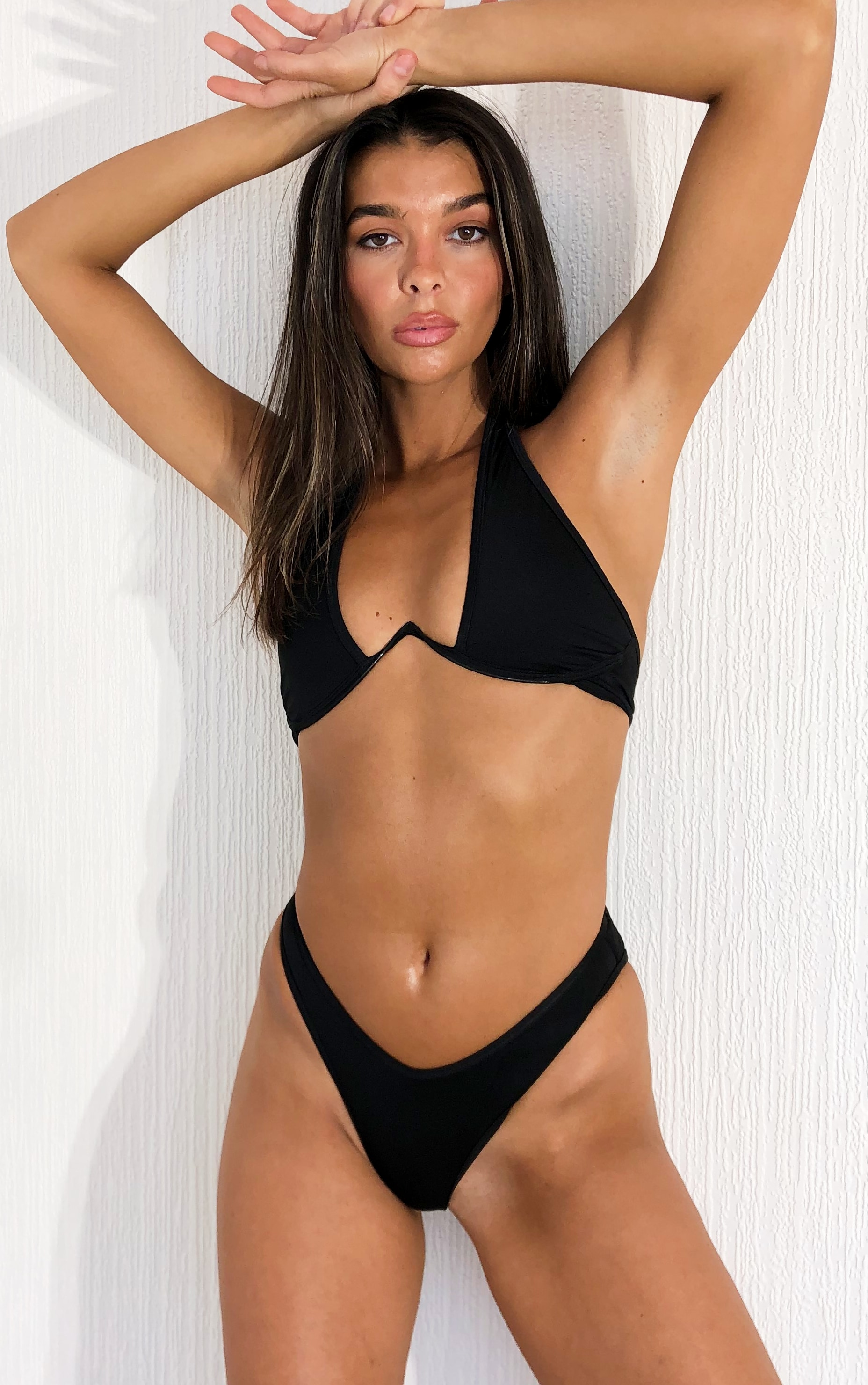 Black High Leg Bikini Bottoms 4