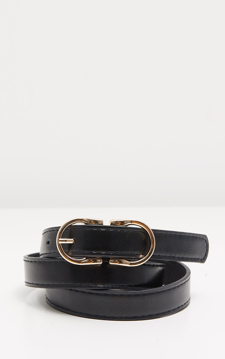 Black Double Bridle Buckle Belt  3