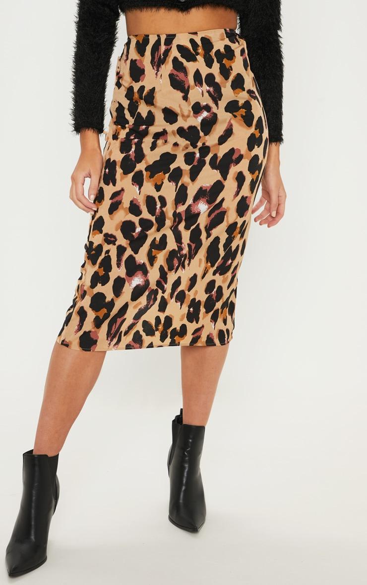 Jupe mi-longue à imprimé léopard 2