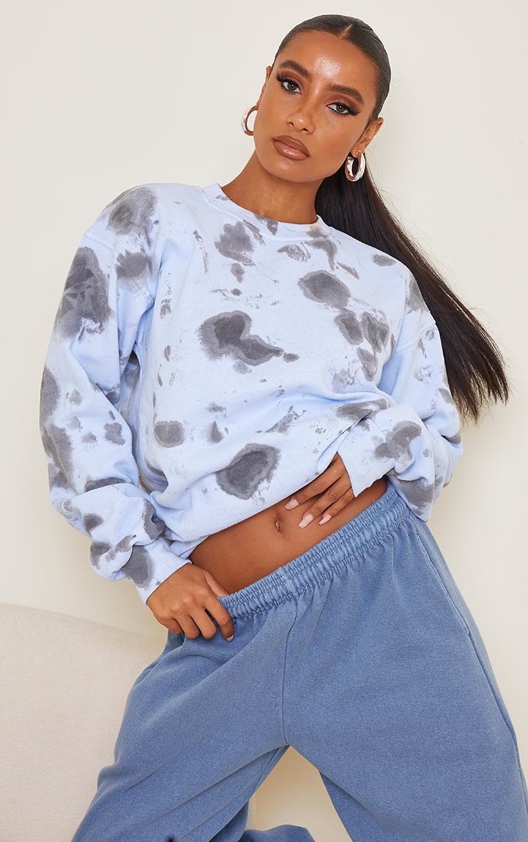 Blue Tie Dye Sweatshirt 1