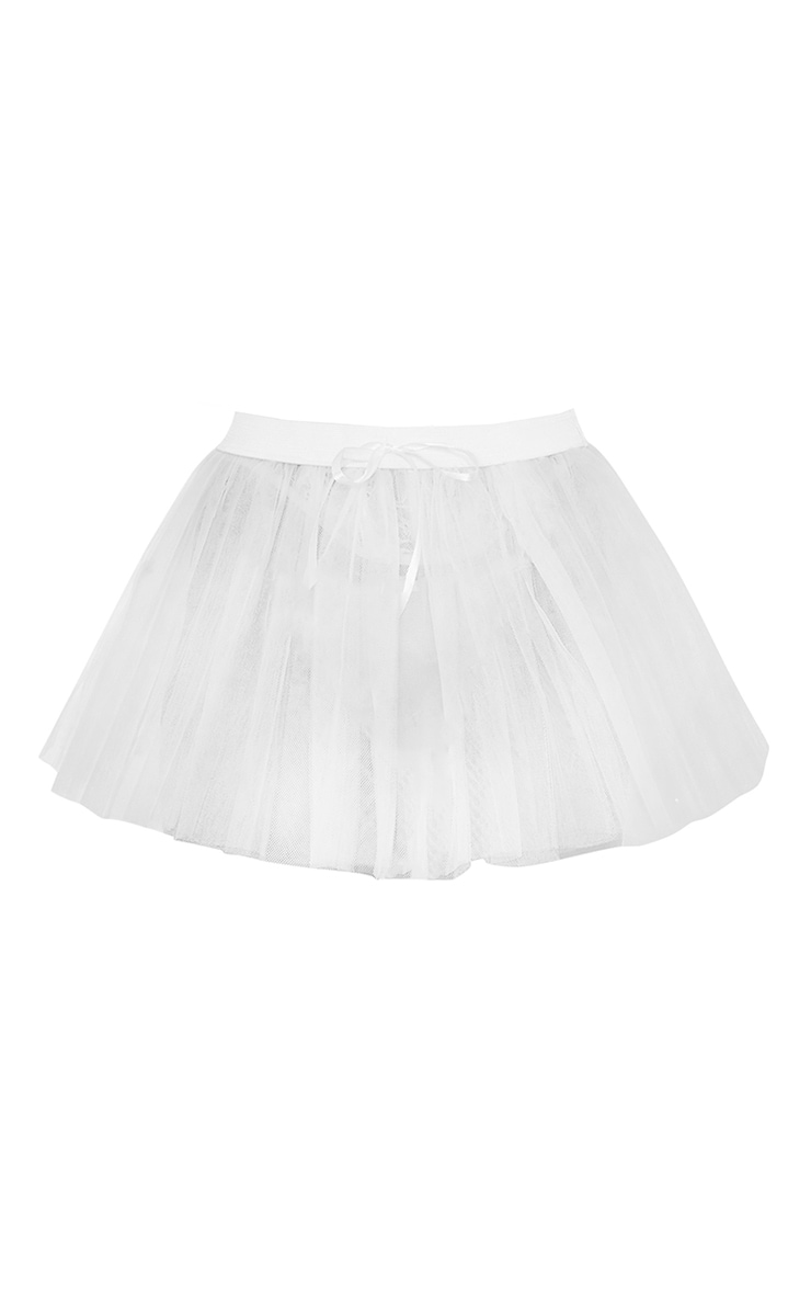 White Basic TuTu Skirt 5