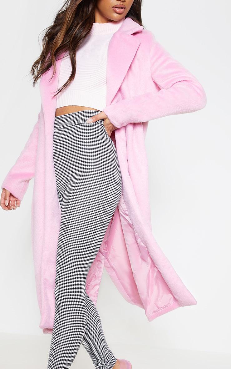 Long manteau  rose en laine 6