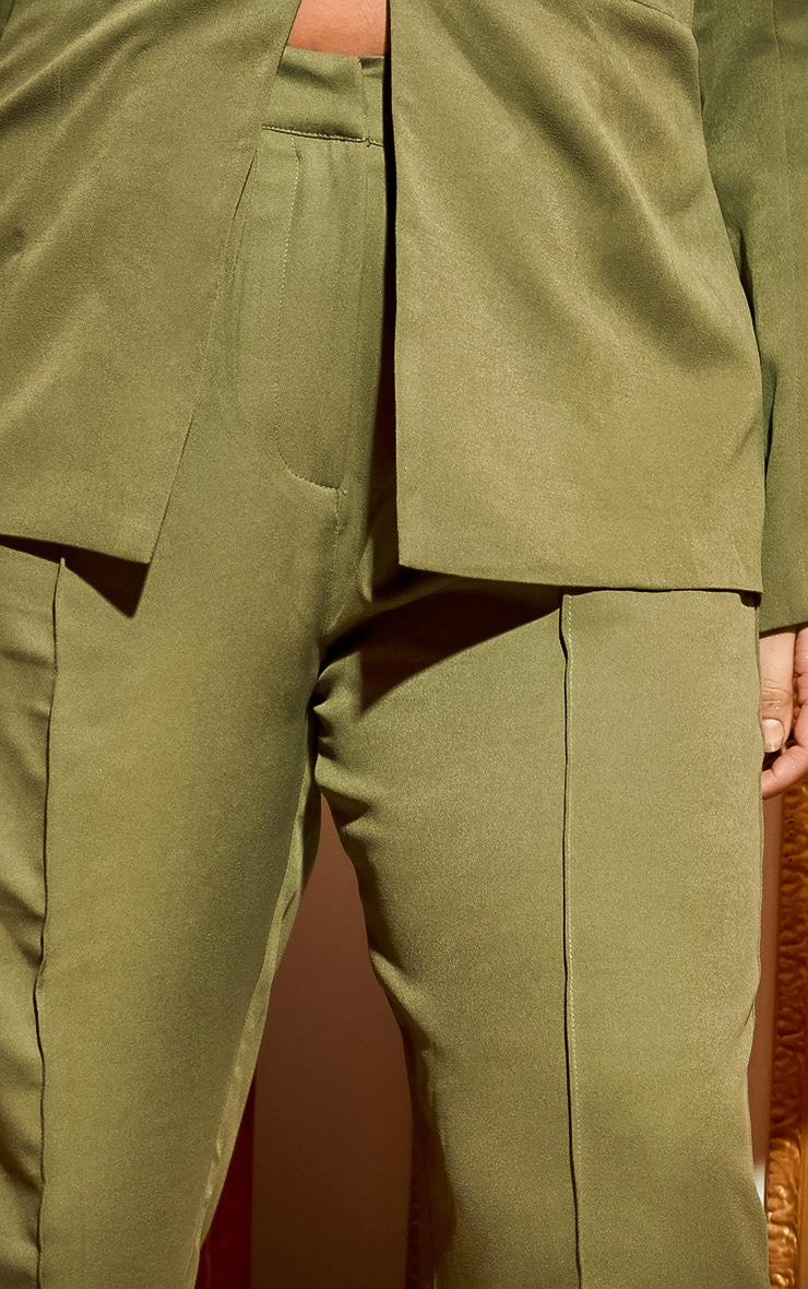 Plus Khaki Wide Leg Pants 6