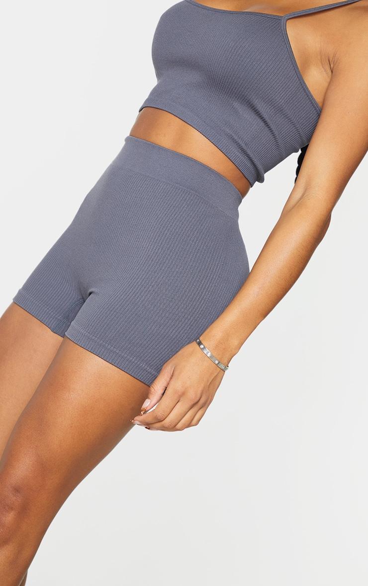 Shape Charcoal Contour Rib Shorts 5