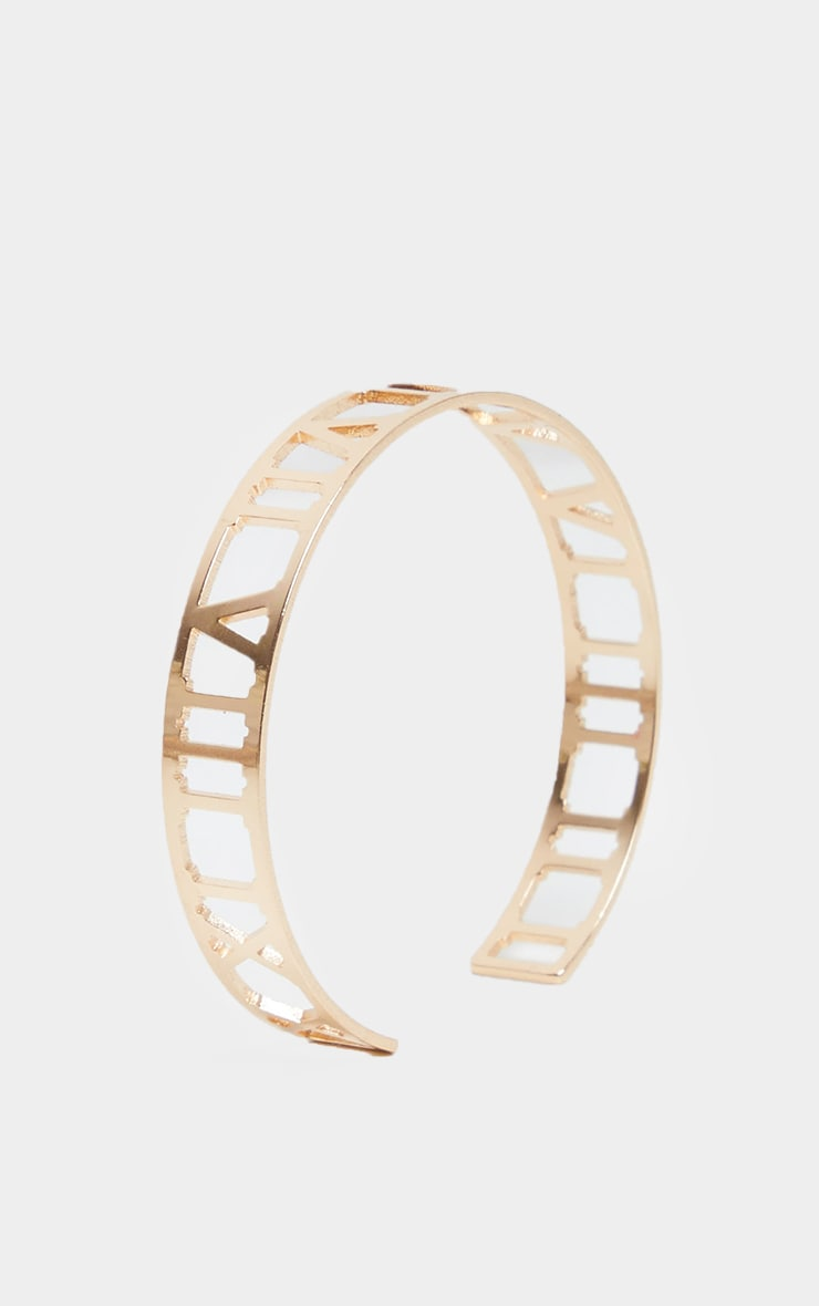 Gold Numeral Cut Out Bracelet 1