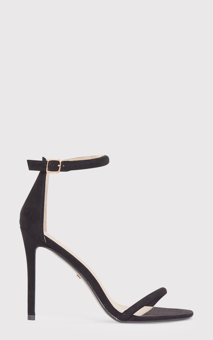 Ruby Black Square Toe Strappy Heels 2