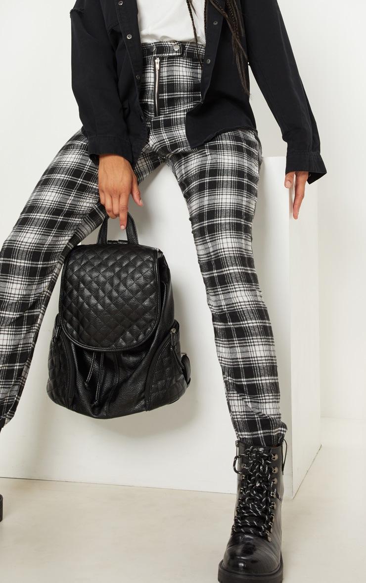 Monochrome Popper Front Check Slim Leg Trouser 4