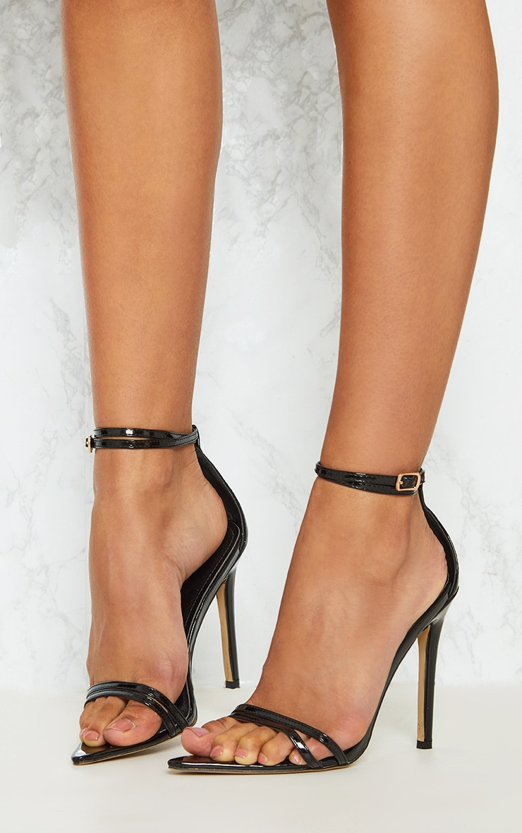 Black Point Toe Barely There Sandal 2