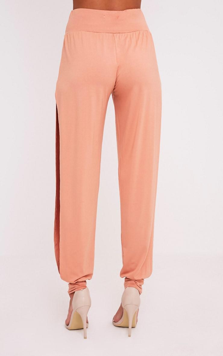 Chasity Peach Split Side Jersey Trousers 5