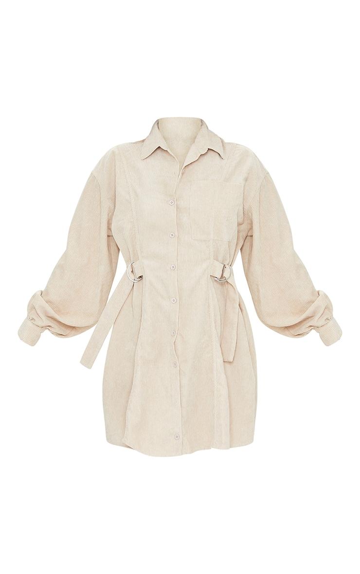 Stone Cord Waist Buckle Detail Shirt Dress 5