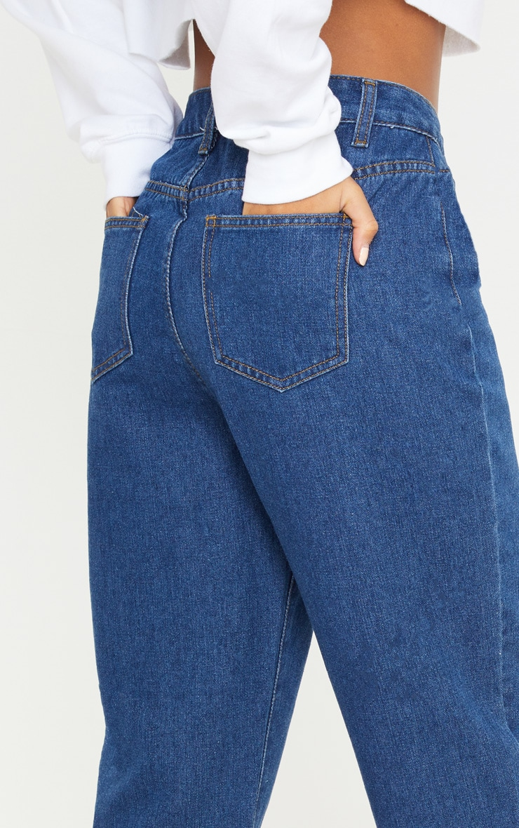 Mid Wash Basic Dad Jean 5